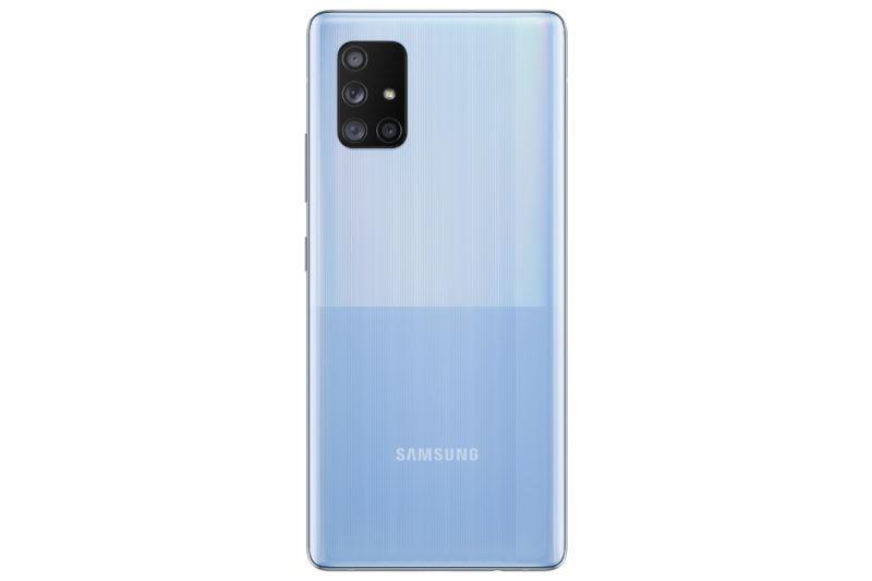 GalaxyA71 5G Blue Back