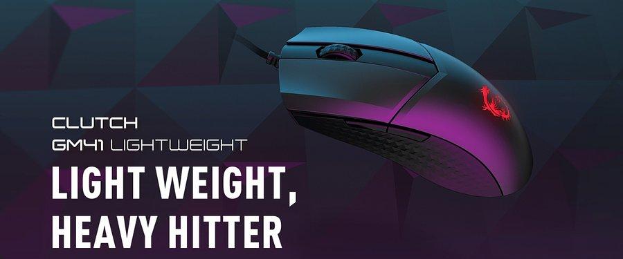 MSI, lider w dziedzinie sprzętu dla graczy, ma zaszczyt zaprezentować swoją pierwszą gamingową myszkę wagi lekkiej – CLUTCH GM41 LIGHTWEIGHT oraz nowy, atrakcyjny cenowo zestaw słuchawkowy IMMERSE GH20. Nowe produkty w ofercie MSI zapewniają więcej możliwości wyboru dla graczy doceniających wyrafinowany design urządzeń peryferyjnych.