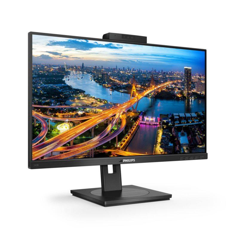 Ekologiczny 24-calowy monitor Philips z dokowaniem USB-C i kamerką Windows Hello