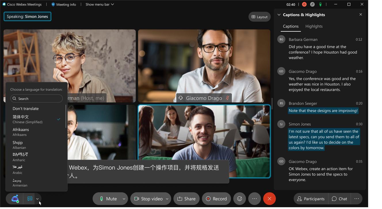 Cisco Webex przełamuje bariery językowe i wprowadza tłumaczenie w czasie rzeczywistym