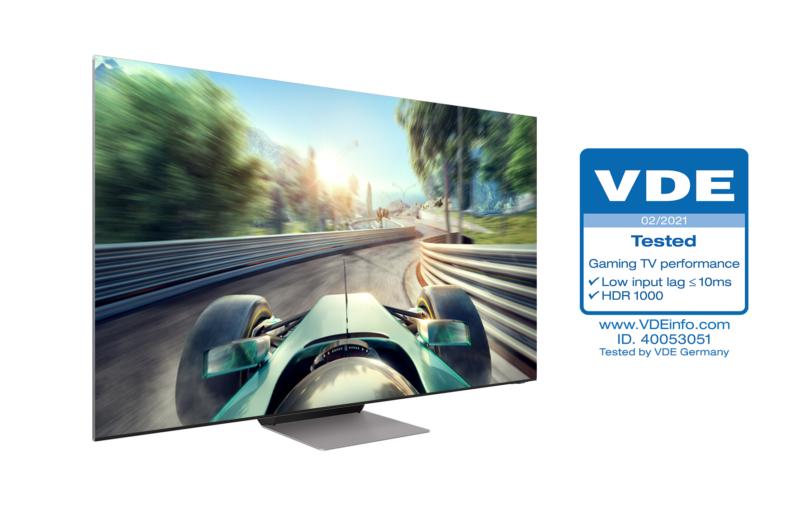 "Telewizory Samsung Neo QLED pierwsze z certyfikatem VDE ""Gaming TV Performance"""