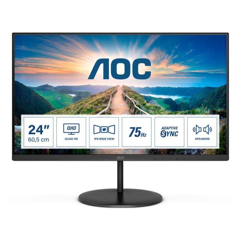 Smukłe monitory IPS z nowej serii AOC V4