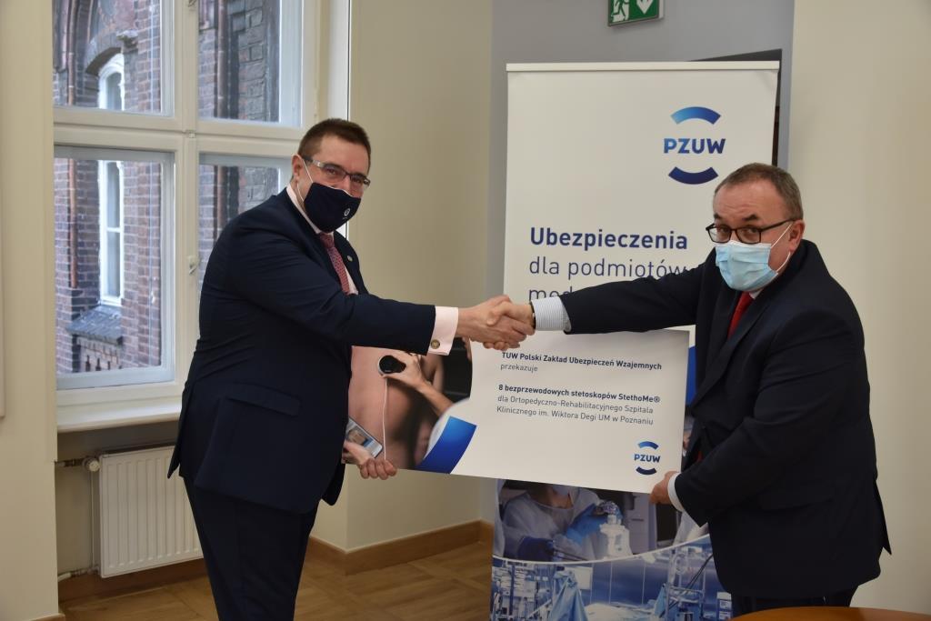 Zdalne stetoskopy od TUW PZUW dla poznańskiego szpitala