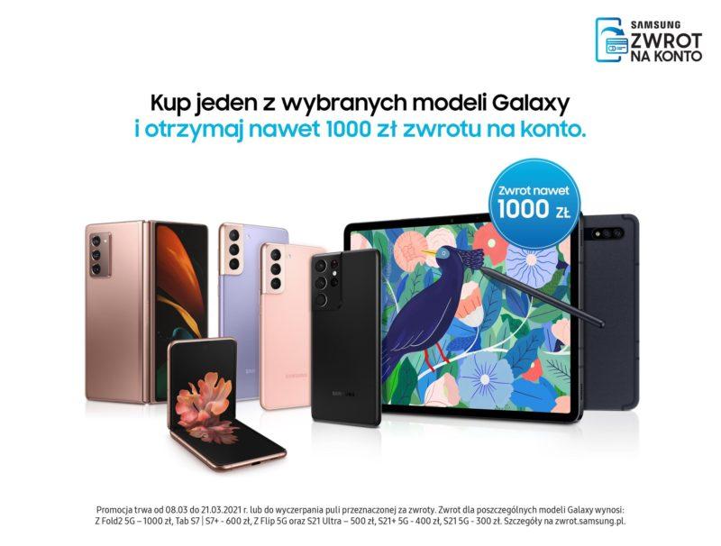Promocja Samsung Cashback: zyskaj przy zakupie urządzeń Galaxy