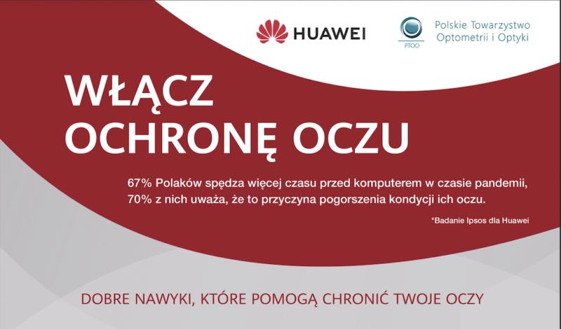 Ipsos dla Huawei: Polacy spędzają więcej czasu przed komputerem w pandemii – nie wiedzą, jak chronić oczy
