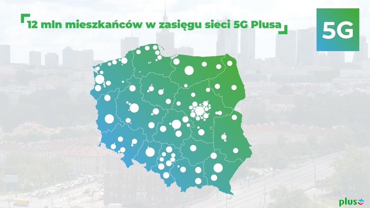 12 milionów mieszkańców Polski w zasięgu sieci 5G Plusa