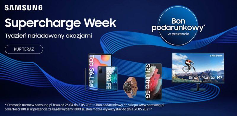 Samsung Supercharge Week: zyskaj bon podarunkowy i nawet 500 PLN zniżki na zakupy