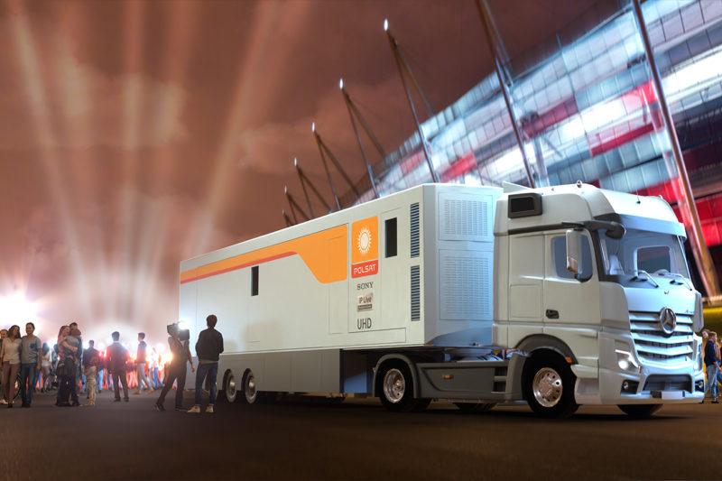 Najnowocześniejszy wóz transmisyjny Sony w Polsacie