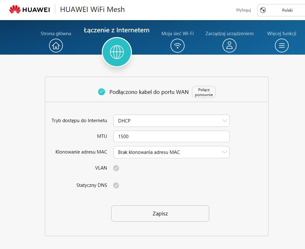 huawei ws5800 dostep do internetu