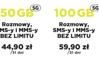 Nowe pakiety również w technologii 5G! Nawet 100 GB bez limitu prędkości
