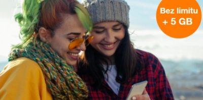 """""""Bez limitu + 5 GB na start"""" – promocja dla nowych użytkowników Orange na kartę"""
