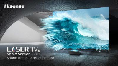 Hisense prezentuje pierwszy na rynku telewizor laserowy z ekranem dźwiękowym – Sonic Screen Laser TV