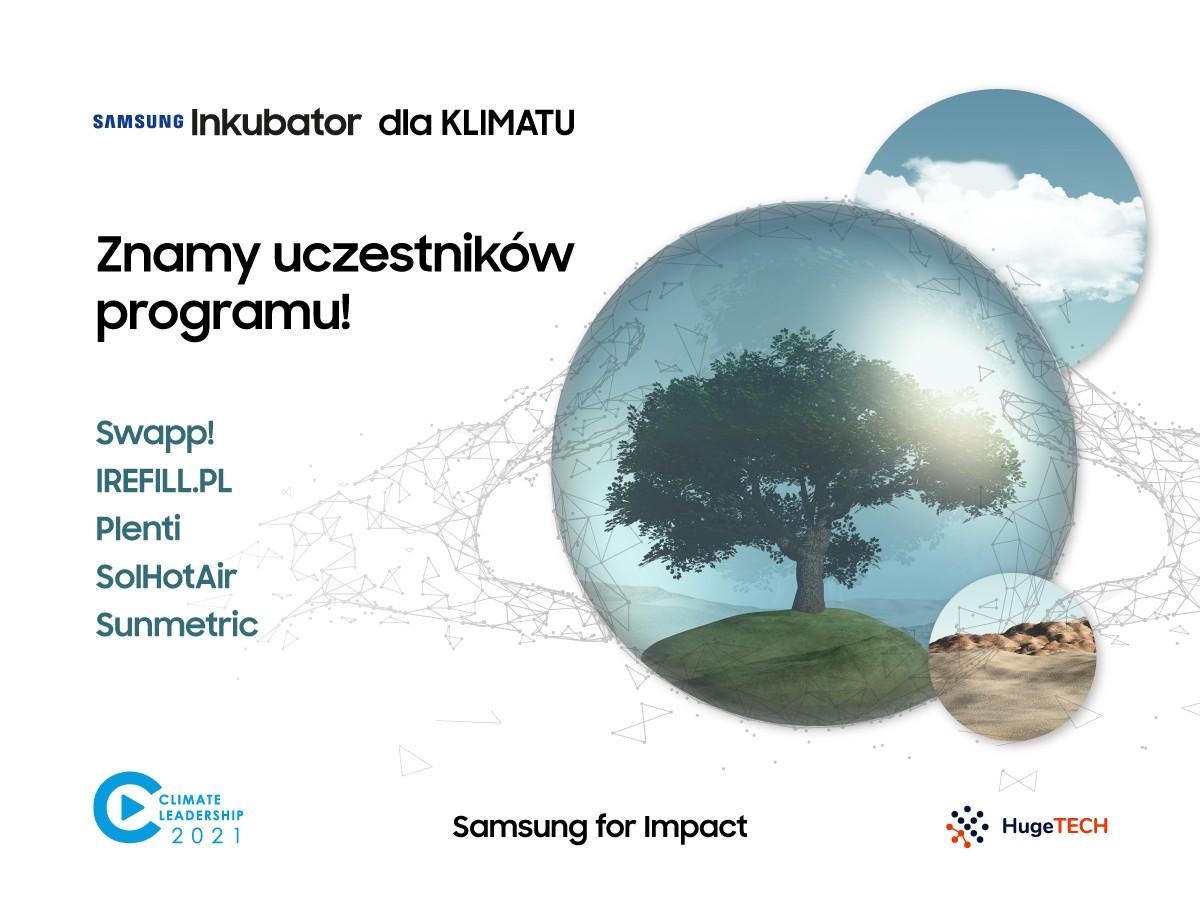 Samsung Inkubator Climate Leadership: 5 startupów rusza na ratunek klimatowi