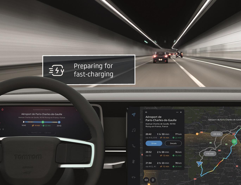 TomTom przedstawia rozszerzony pakiet technologii EV