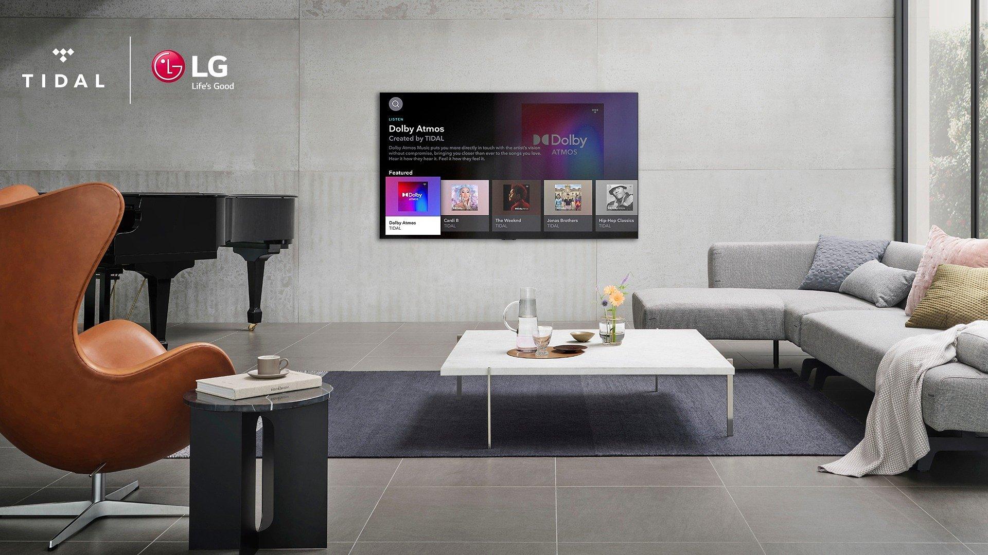 Użytkownicy telewizorów LG mają dostęp do doskonałych wrażeń muzycznych dzięki serwisowi TIDAL