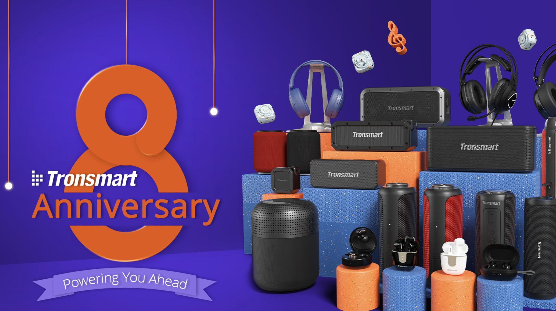 Gift box, słuchawki Apollo Air and Air+ oraz kupon 15% na geekbuying – Tronsmart obchodzi 8 urodziny i rozdaje nagrody