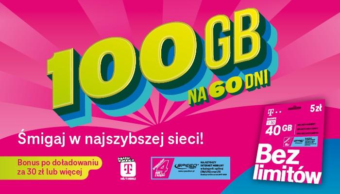 100 gb dla klientow t mobile na karte