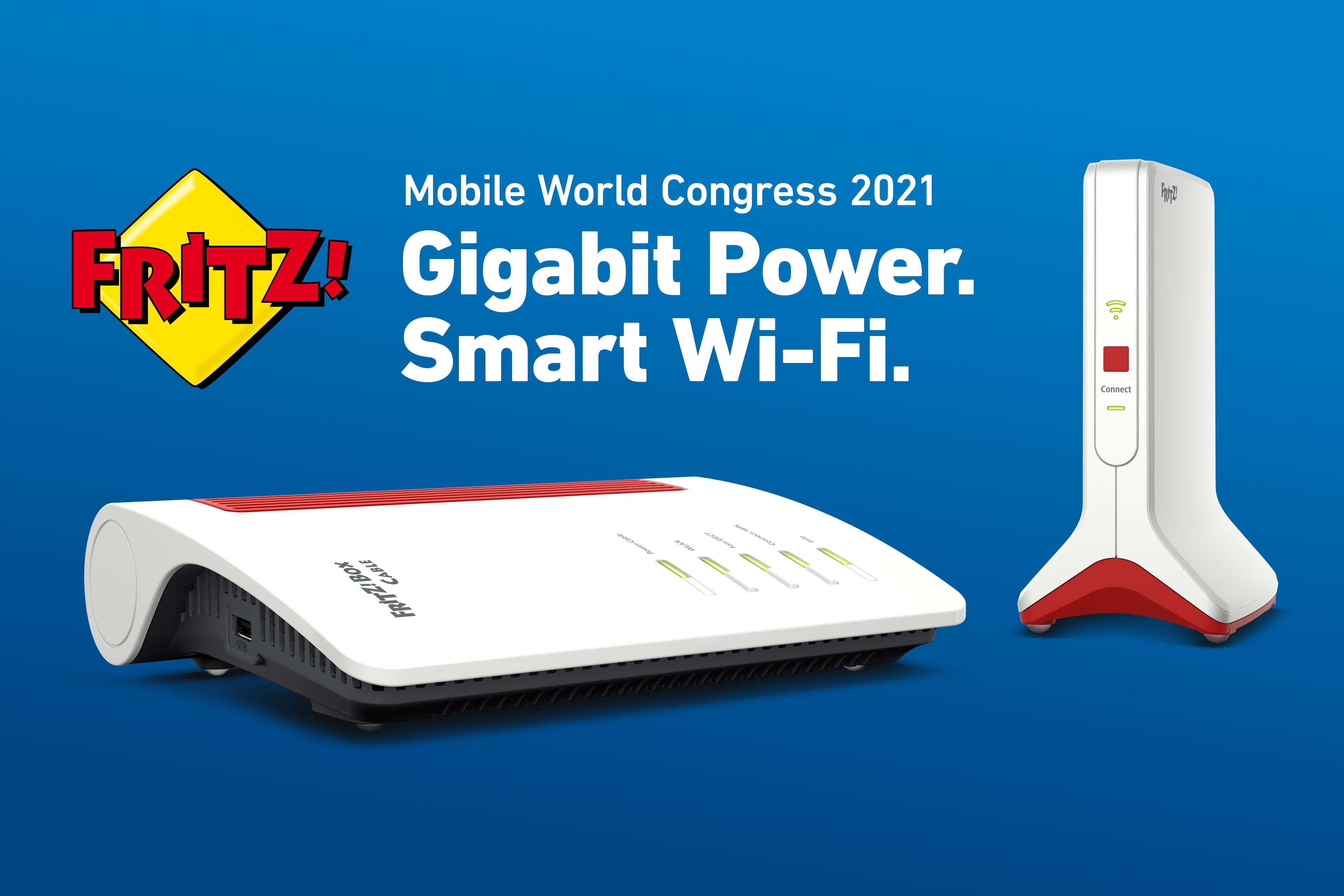 Moc gigabitów – inteligentne Wi-Fi: Marka FRITZ! zdradza plany na wirtualną edycję MWC 2021