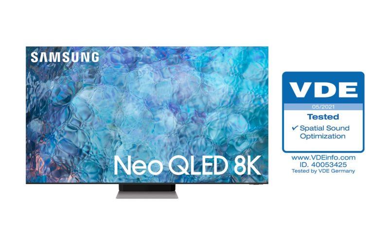"""Telewizory Neo QLED z certyfikatem VDE """"Spatial Sound Optimization"""" dopasowują brzmienie do otoczenia"""