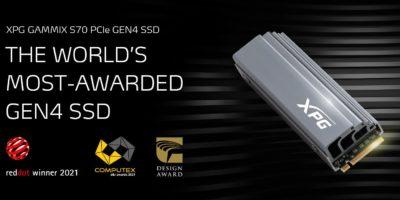 XPG Gammix S70 z nagrodą COMPUTEX d&i 2021