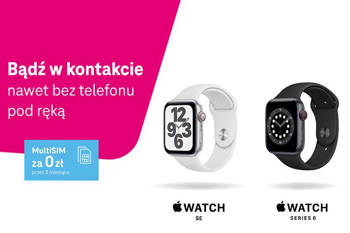 Stały kontakt nawet bez telefonu: Apple Watch Series 6 i Apple Watch SE w wersji eSIM w T-Mobile