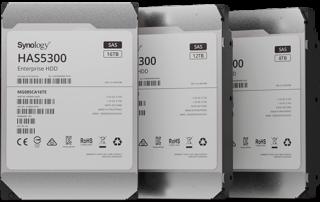 Synology® wprowadza dyski twarde HAS5300 SAS klasy Enterprise zapewniające skalowalność i wysoką wydajność systemów
