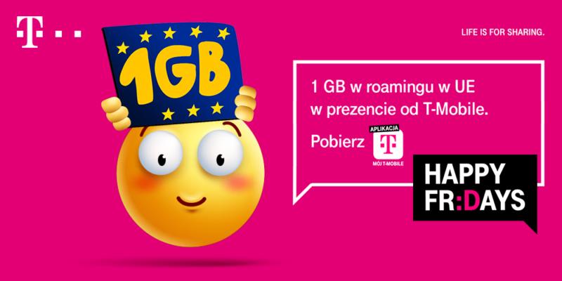 odbierz bezplatny pakiet 1 gb w roamingu w ue od t mobile