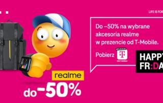 Rabat do 50% na wybrane akcesoria realme dla klientów indywidualnych T-Mobile