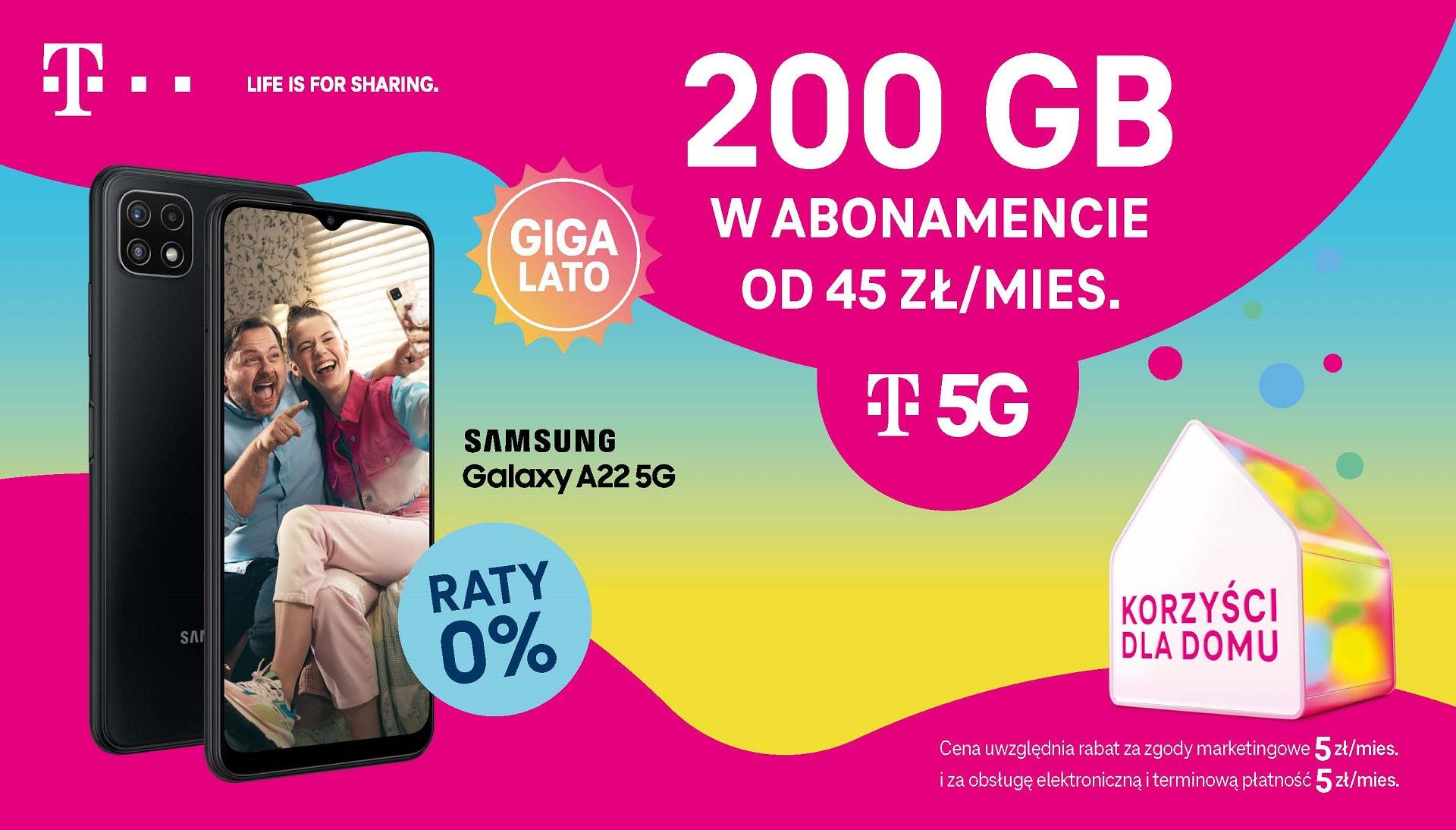 Rozpocznij GIGAlato z T-Mobile i odbierz największą paczkę gigabajtów w Polsce