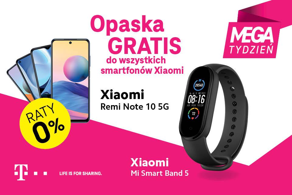 MEGA TYDZIEŃ w T-Mobile – wybierz swój smartfon Xiaomi i zgarnij opaskę Mi Smart Band 5
