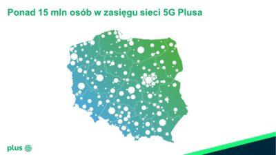 Ponad 15 milionów osób w zasięgu sieci 5G Plusa
