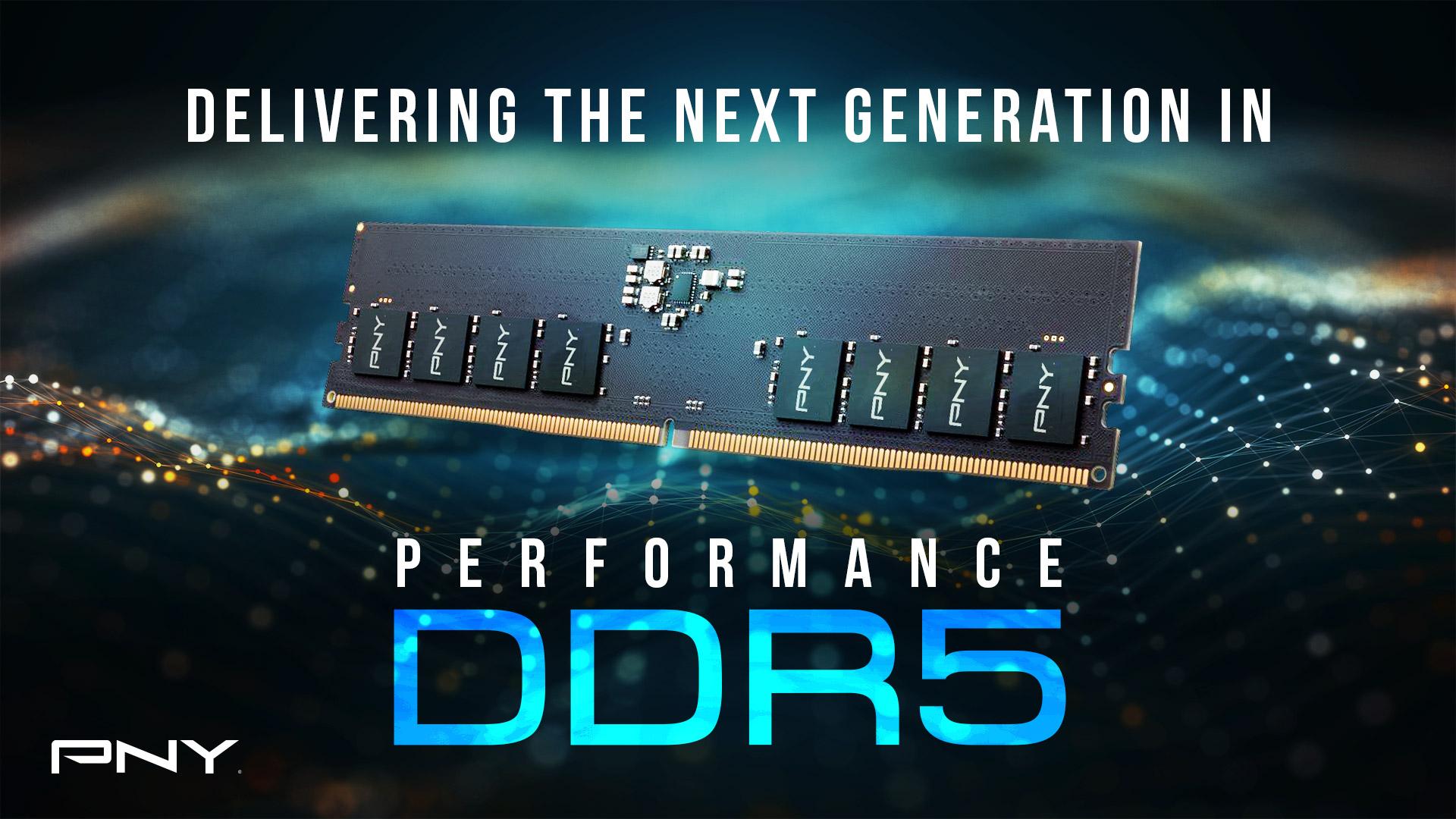 Wydajność nowej generacji – PNY zapowiada pamięć Performance DDR5 4800MHz