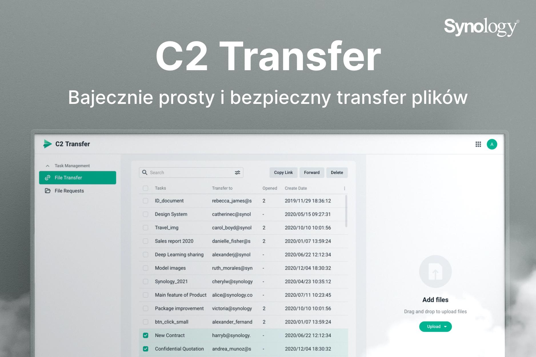 C2 Transfer - bezpieczne przesyłanie plików dla firm i zespołów