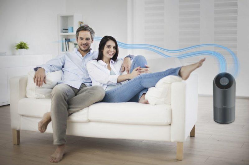 Oczyszczacz idealnie nada się do różnej wielkości pokojów