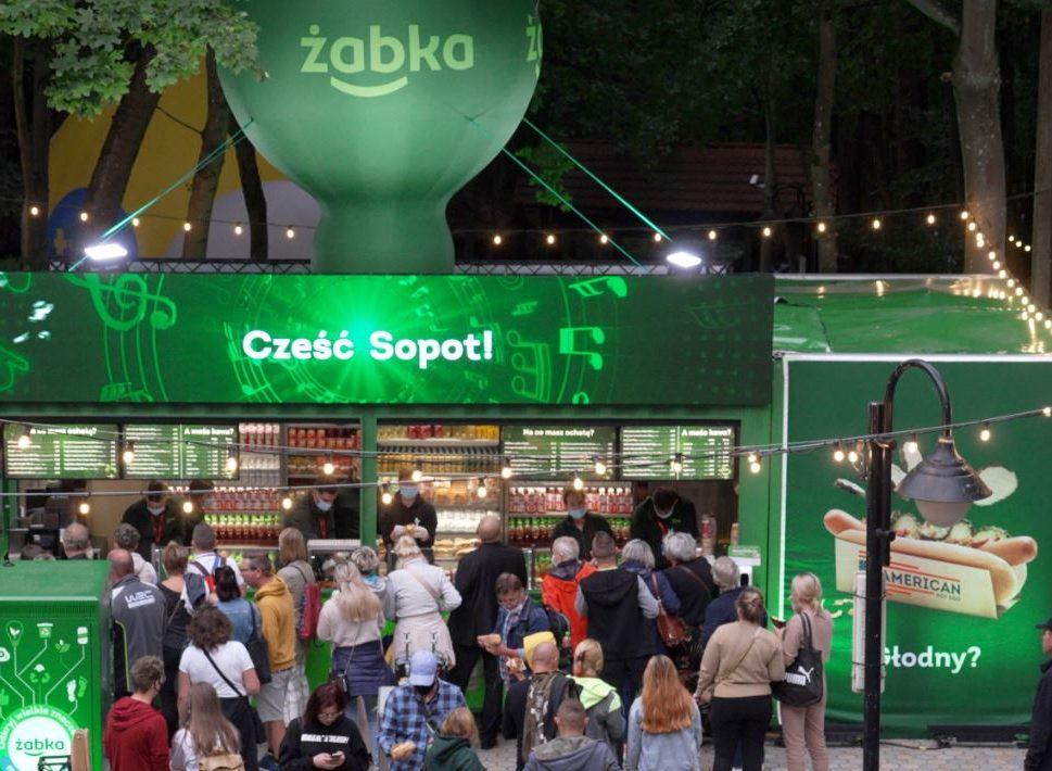 Mobilna Żabka na Top of the Top Sopot Festival