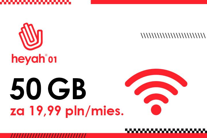 Heyah 01 z nową ofertą internetową z 50 GB za 19,99 zł