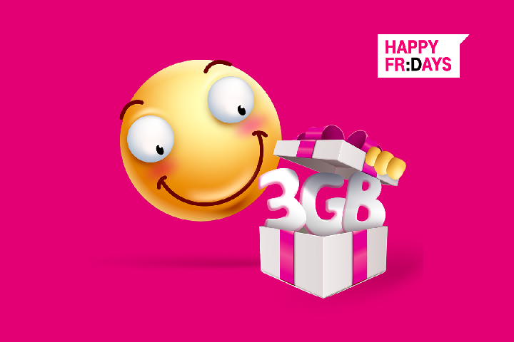 3 GB na Happy Fridays od T-Mobile