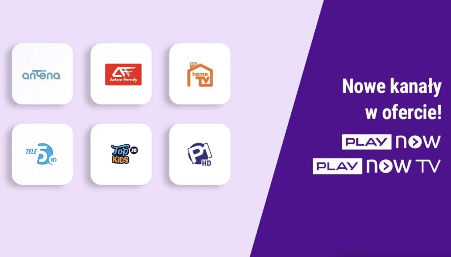 Nowe kanały dołączają do oferty PLAY NOW i PLAY NOW TV