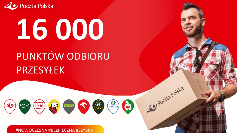 Już ponad 16 tys. punktów odbioru przesyłek Poczty Polskiej – Co 5 paczka odbierana jest w pocztowych punktach partnerskich