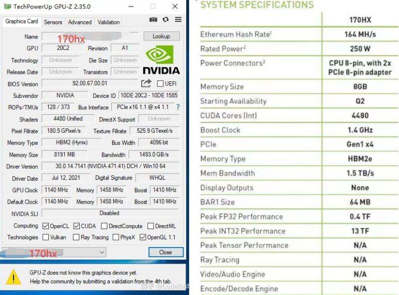 129882 nvidia cmp 170hx leak 4