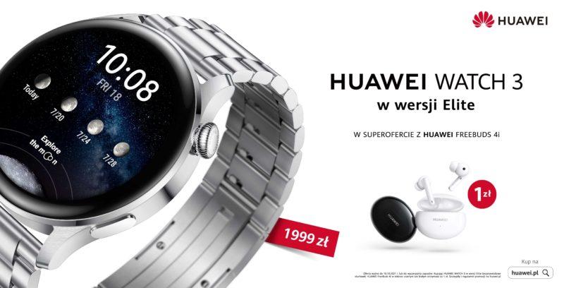 Huawei Watch 3 Elite – nowy model na eleganckiej bransolecie w atrakcyjnej ofercie