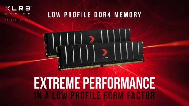 PNY prezentuje niskoprofilową pamięć do komputerów stacjonarnych – XLR8 Gaming Low Profile DDR4 2666MHz, 3200MHz i 3600MHz