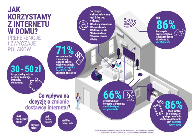 infografika badanie preferencji i zwyczajow uzytkownikow internetu w polsce