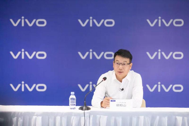 vivo V1 announcement, Mr Hu Baishan