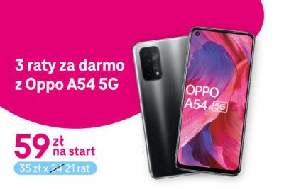 Trzy raty gratis na OPPO A54 5G w T-Mobile