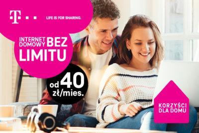 T-Mobile startuje z kampanią promującą nielimitowany internet domowy w całej Polsce od 40 zł