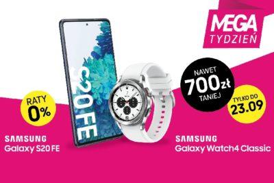 MEGA TYDZIEŃ w T-Mobile: wybierz smartfon Samsung ze smartwatchem i zgarnij rabat do 700 zł