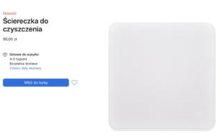 Czysty wyświetlacz w cenie 100 zł? Apple wprowadziło do sprzedaży ściereczkę do czyszczenia