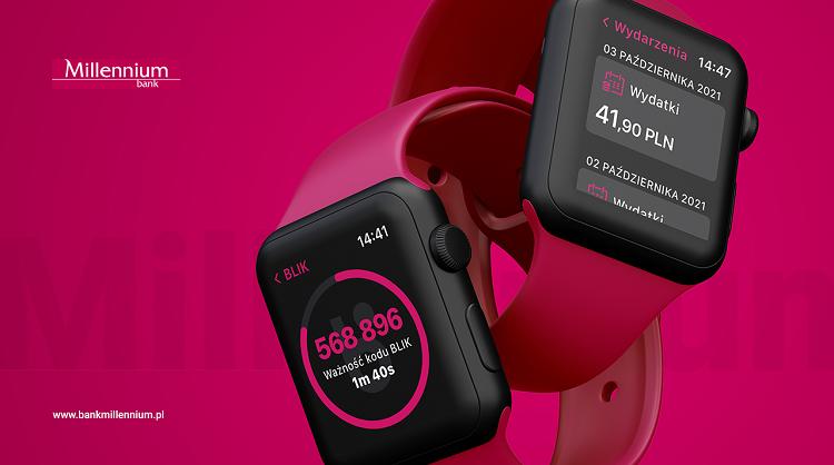 Bank Millennium z nową wersją aplikacji na Apple Watch