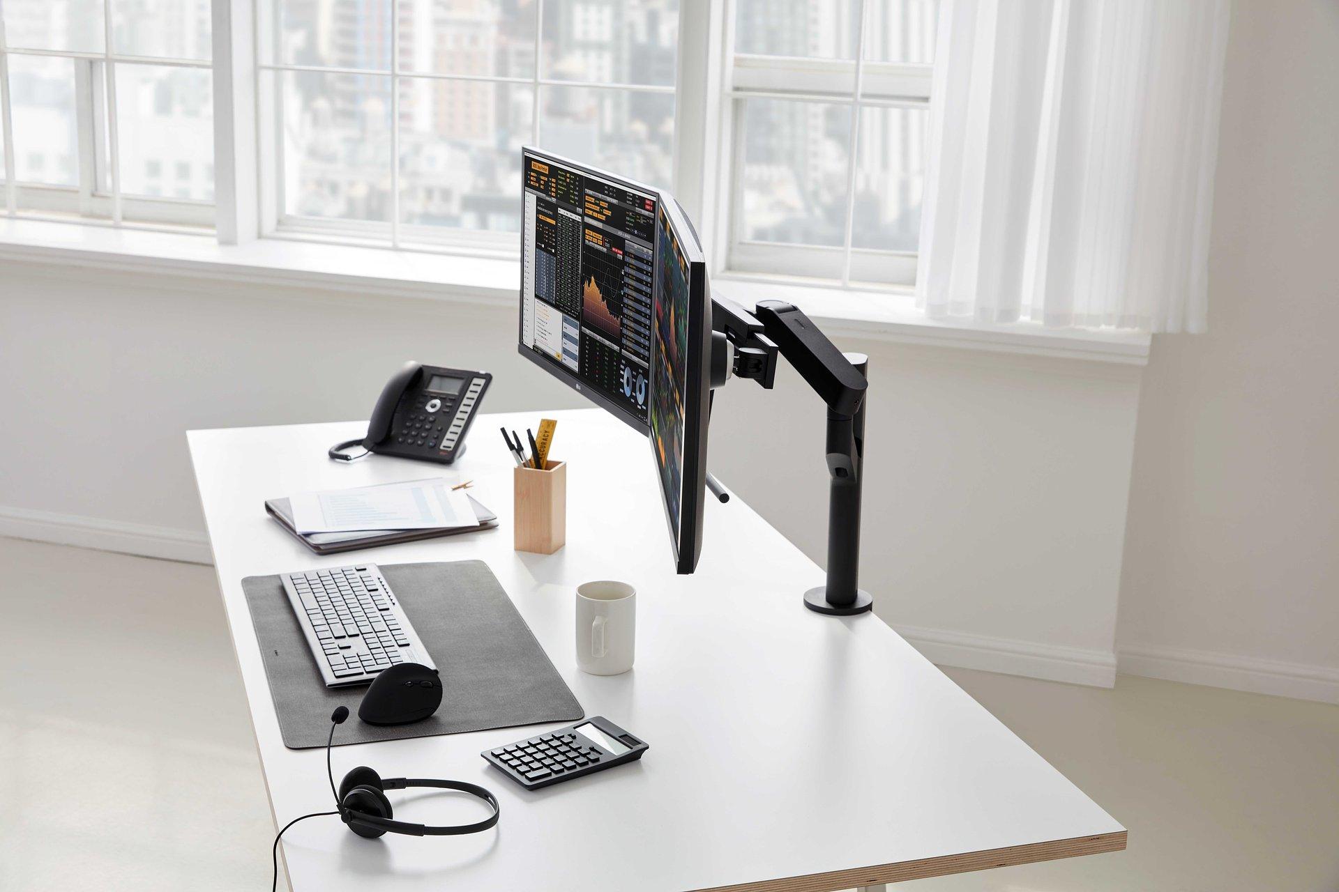 Monitory LG Ergo drugiej generacji gotowe do działania w niestandardowych warunkach, gwarantują maksymalny komfort